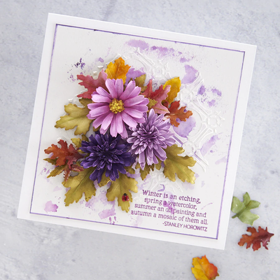 Spellbinders Die - Autumn Flora by Susan Tierney - Button and Daisy Chrysanthemum - S4-1074