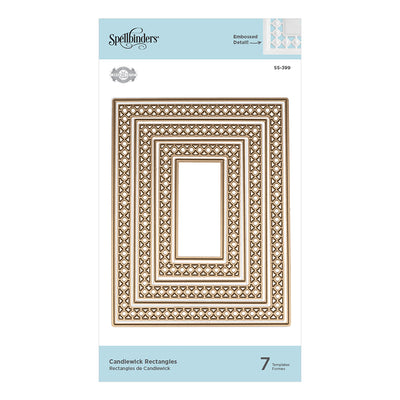Spellbinders Dies - Candlewick Classics by Becca Feeken - Candlewick Rectangles - S5-399