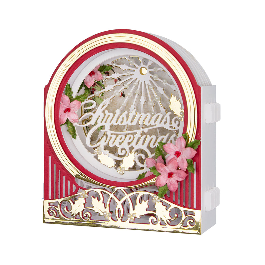 Spellbinders - Grand Snow Globe  Dies  - 3D Holiday Vignettes Collection by Becca Feeken  - S6-158