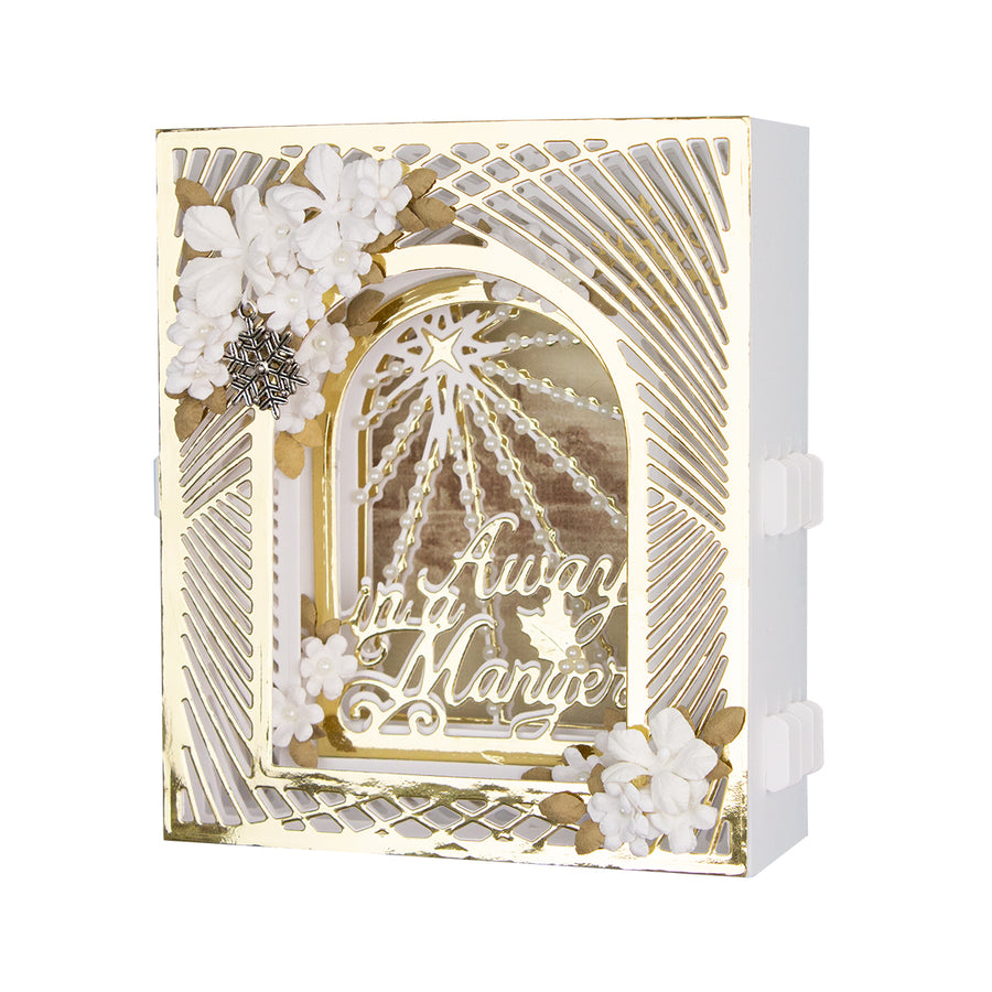 Spellbinders - Grand Christmas Lattice Arch  Dies  - 3D Holiday Vignettes Collection by Becca Feeken  - S6-159