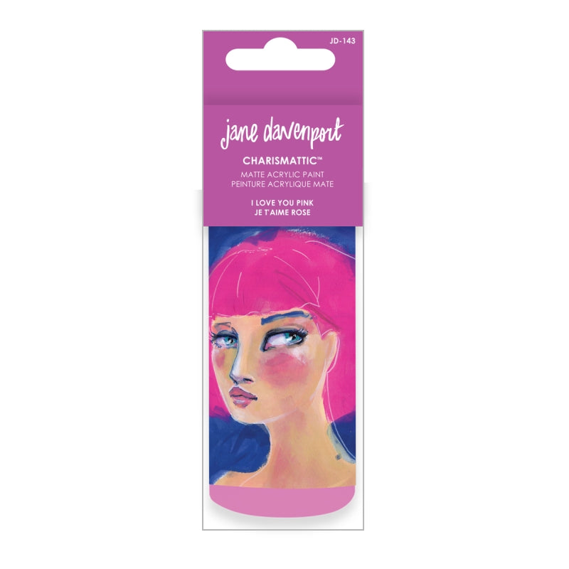 Artomology by Jane Davenport - Charismatic Acrylic Paint -  I Love You Pink - JD-143