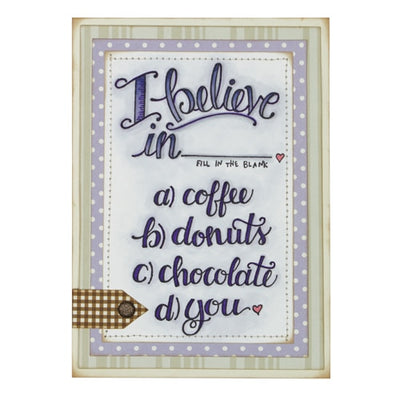 Spellbinders I Believe Stamp from the Happy Grams #3 by Tammy Tutterow