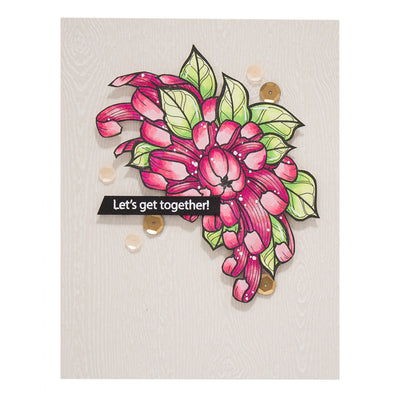 Spellbinders Die - Just Add Color Collection by Stephanie Low - Chrysanthemum Cutie Cling Rubber Stamps - SBS-186