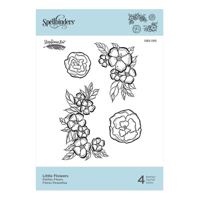 Spellbinders Die - Just Add Color Collection by Stephanie Low - Little Flowers Cling Rubber Stamps - SBS-190
