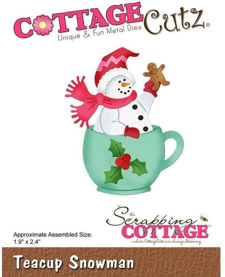 Cottage Cutz Elites Die - Teacup Snowman - CC-512