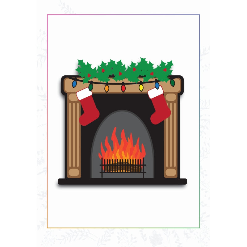 Sharon Callis Crafts Dies - Christmas Fireplace - SCCD033