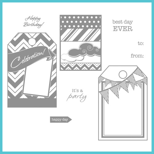 Spellbinders Celebration Stamps: Fun Tags (SCS-007)