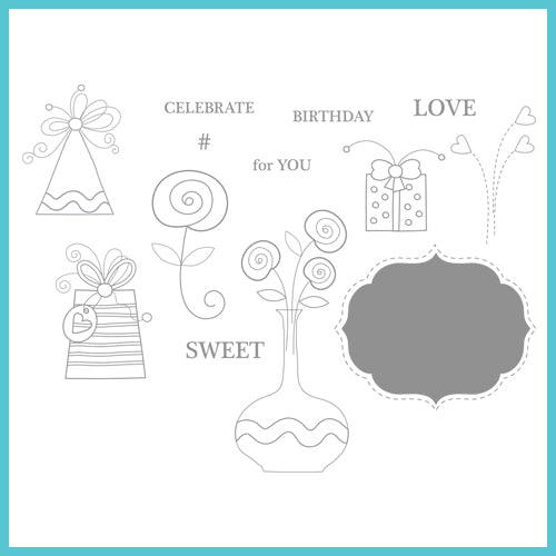 Spellbinders Celebration Stamps: # Sweet Stamps (SCS-003)
