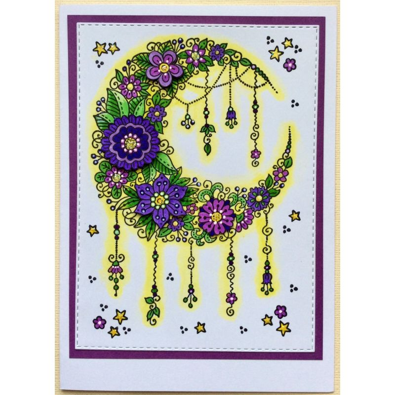 Sweet Dixie Stamps - Fantasy Floral Moon