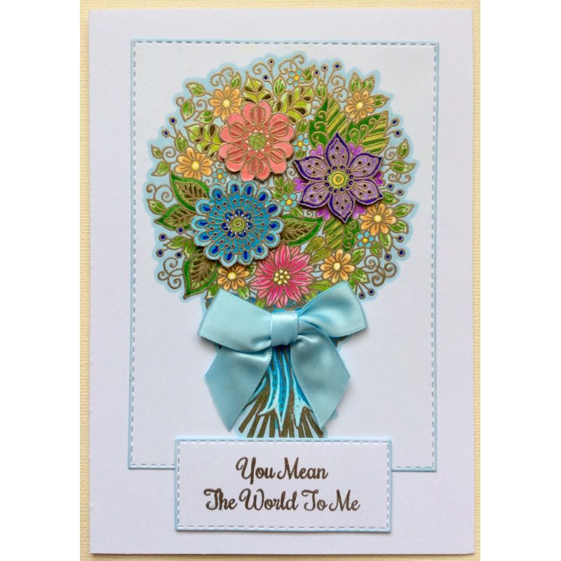 Sweet Dixie Stamps - Fantasy Floral Bouquet
