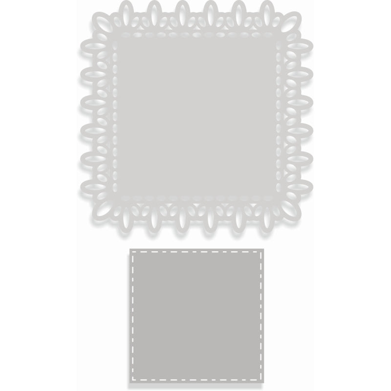 Sweet Dixie Dies - Sharon Callis Crafts - Lace Square Layered Nesting Frame - SDD407