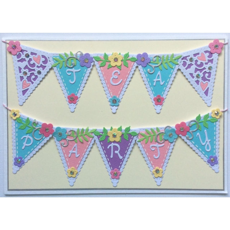 Sweet Dixie Dies - Sue Dix - Tea Party Customisable Bunting -  SDD452