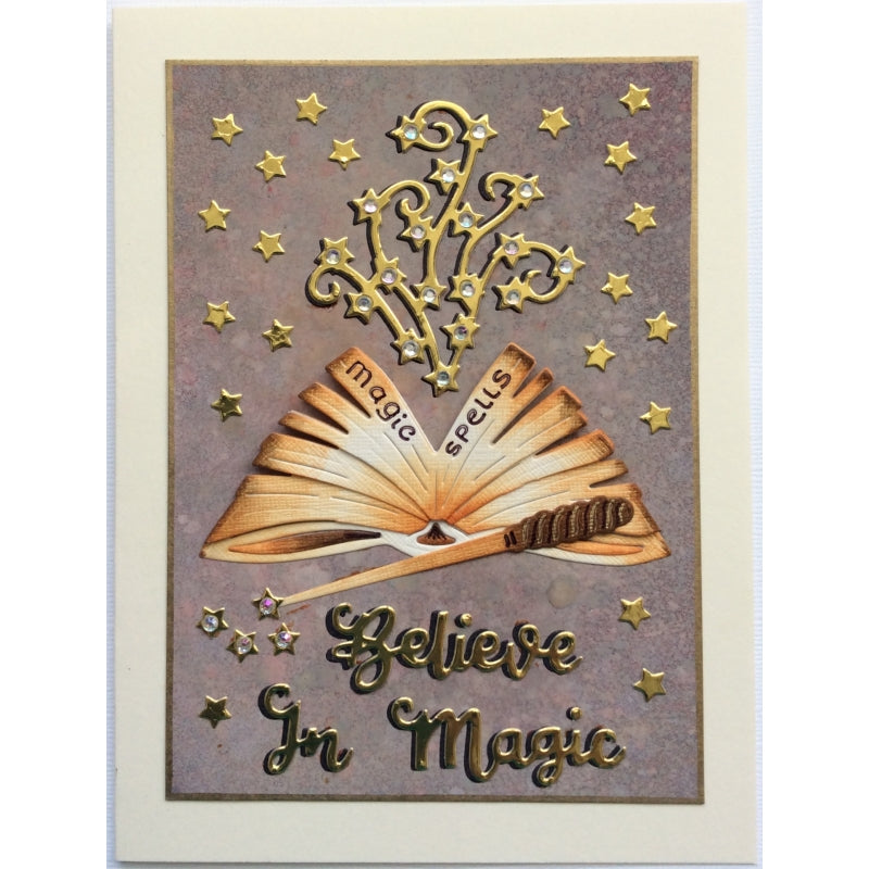 Sweet Dixie Dies - Fantasy by Sue Dix - Spell Book and Wand - SDD482