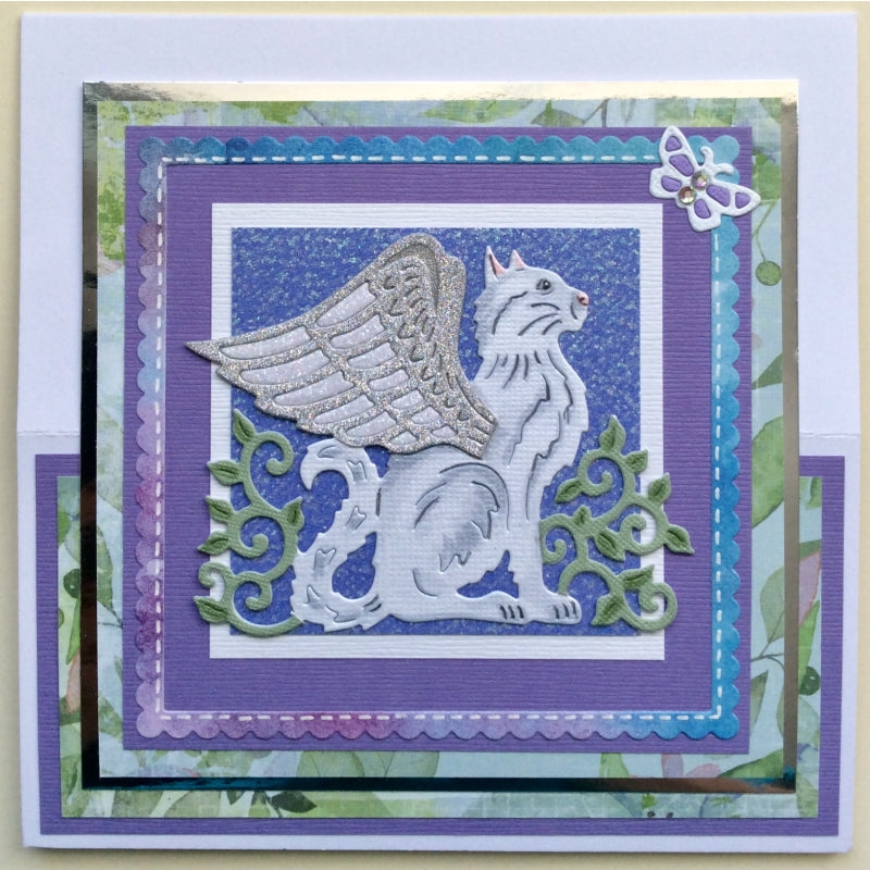 Sweet Dixie Dies - Fantasy by Sue Dix - Winged Angel Cat - SDD492