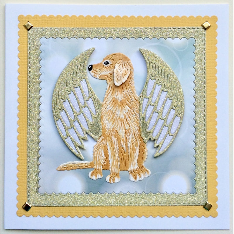 Sweet Dixie Dies - Fantasy by Sue Dix - Winged Angel Dog - SDD493