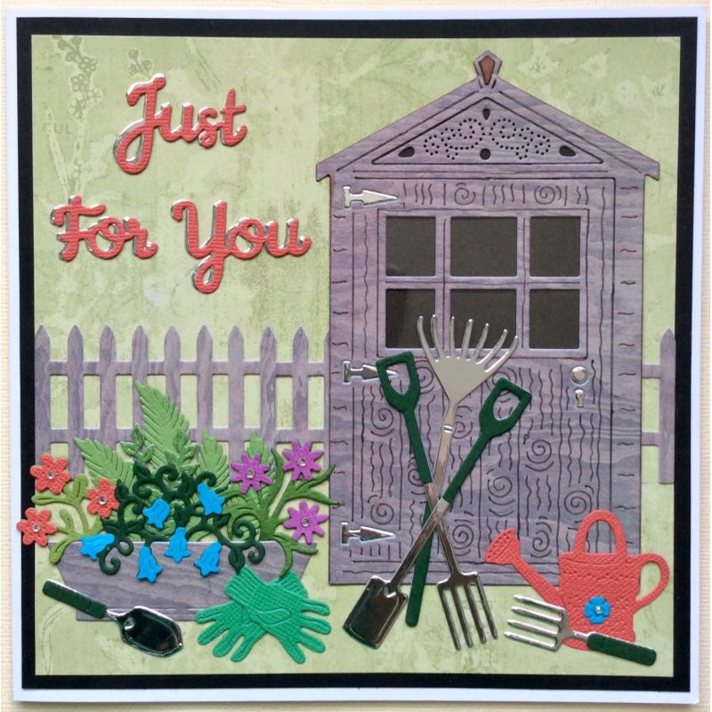 Sweet Dixie Dies - Sue Dix -  Gardening Set 2 - Shed - SDD562