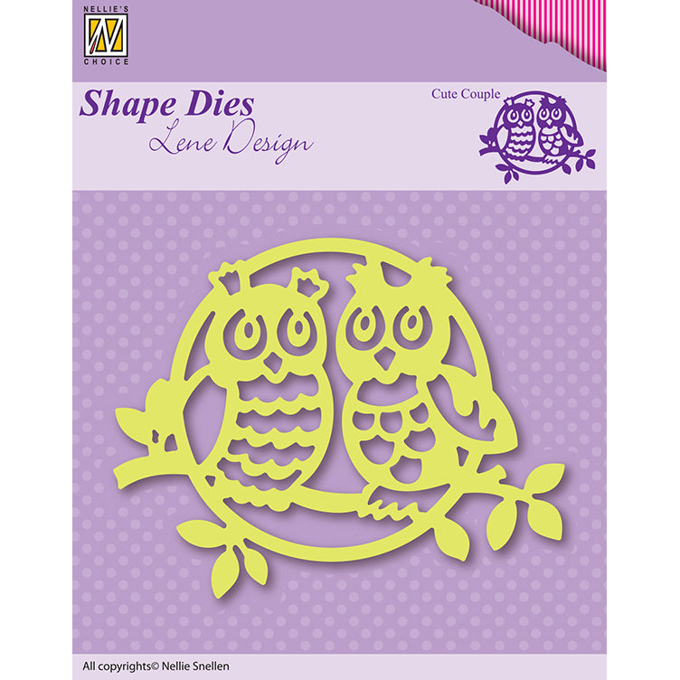 Nellie Snellen Shape Die Lene Design - Cute Couple - SDL003