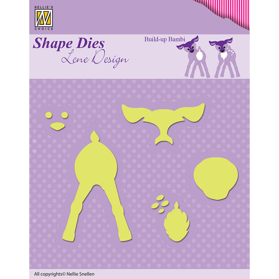 Nellie Snellen Shape Dies Lene Design Build-up Die - Bambi - SDL027