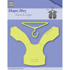 Nellie Snellen Shape Dies Men Things - Vest & Clothes Hanger - SDL036