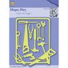 Nellie Snellen Shape Dies Men Things - Handy Man - SDL040