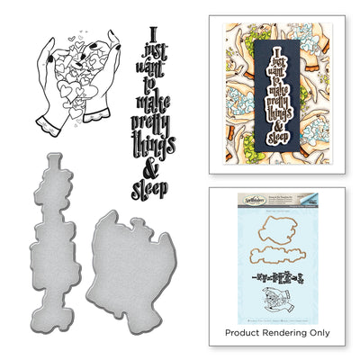 Spellbinders Pretty Handmade by Stephanie Low Stamp and Die Set