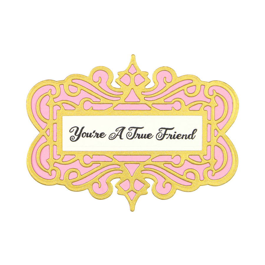 Spellbinders Dies - Flourished Fretwork by Becca Feeken - All Occasion Sentiments - SDS-166