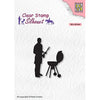 Nellie Snellen Stamp - Silhouette - Barbecue