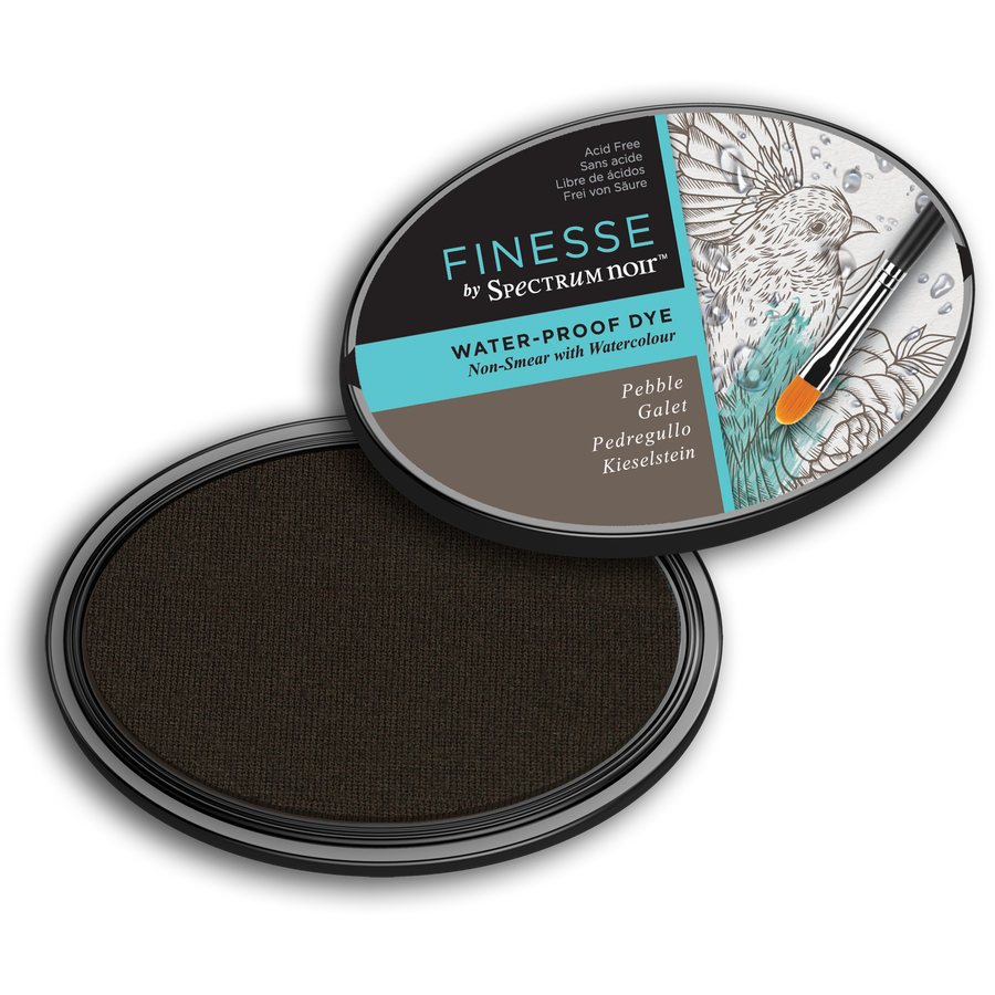 Spectrum Noir Ink Pad - Finesse Water Proof (Pebble)