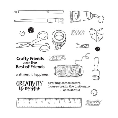 Spellbinders Stamp - Craft Happy -  SS-0691