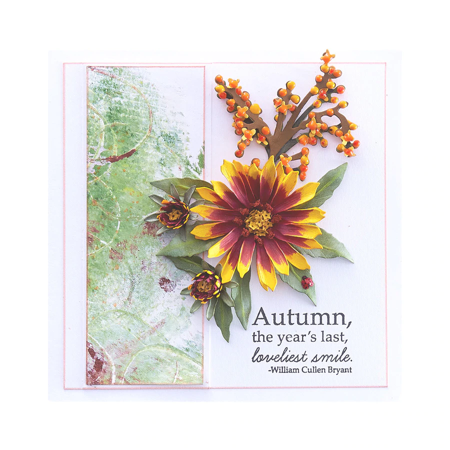 Spellbinders Stamp - Autumn Flora by Susan Tierney - Autumn Quotes - STP-024