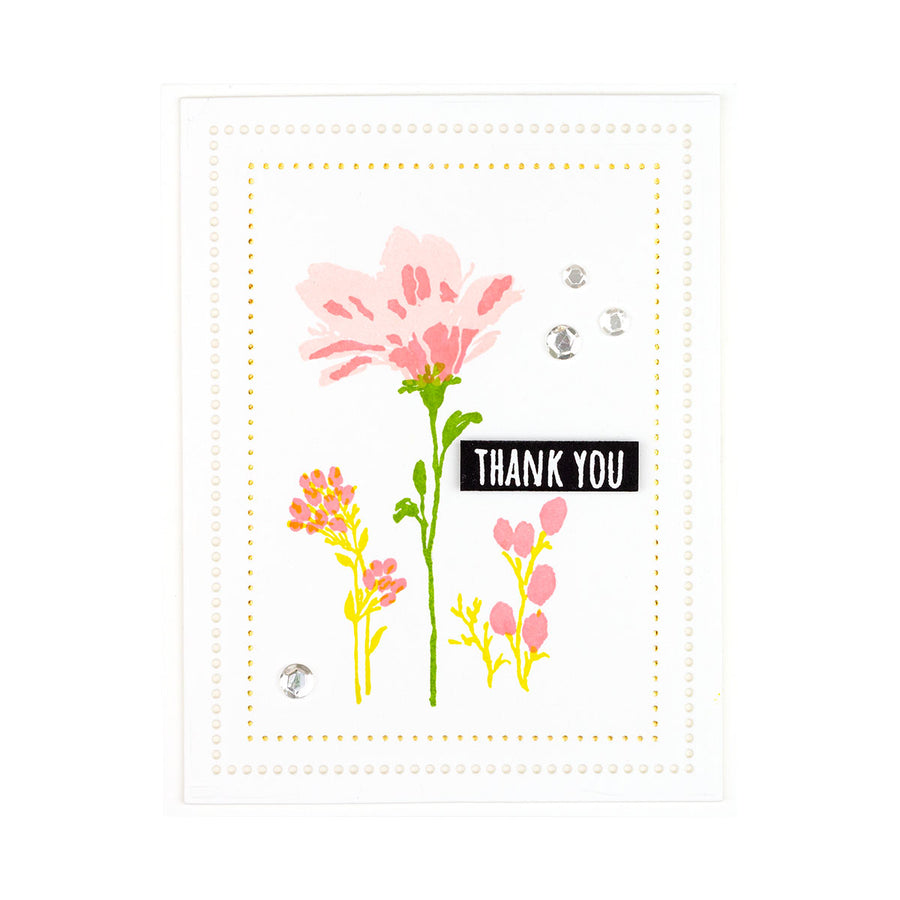 Spellbinders Stamp - Watercolor Florals - Sushma Hegde - Layered Wildflowers - STP-028
