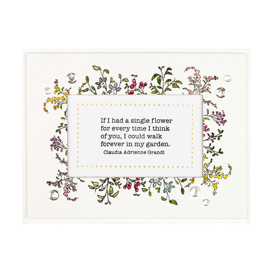 Spellbinders Stamp - Watercolor Florals - Sushma Hegde - Greenery and Blooms - STP-031