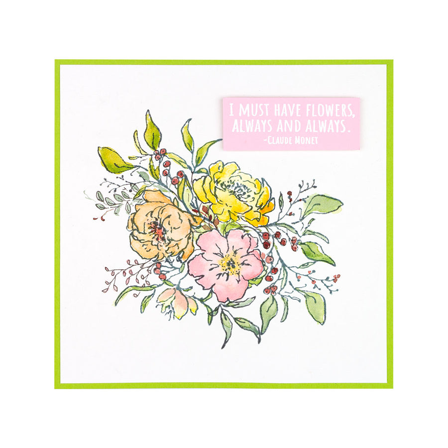 Spellbinders Stamp - Watercolor Florals - Sushma Hegde - Beauty in Bloom - STP-032