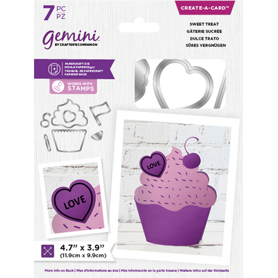 Gemini by Crafters Companion Die - Create a Card - Sweet Treat