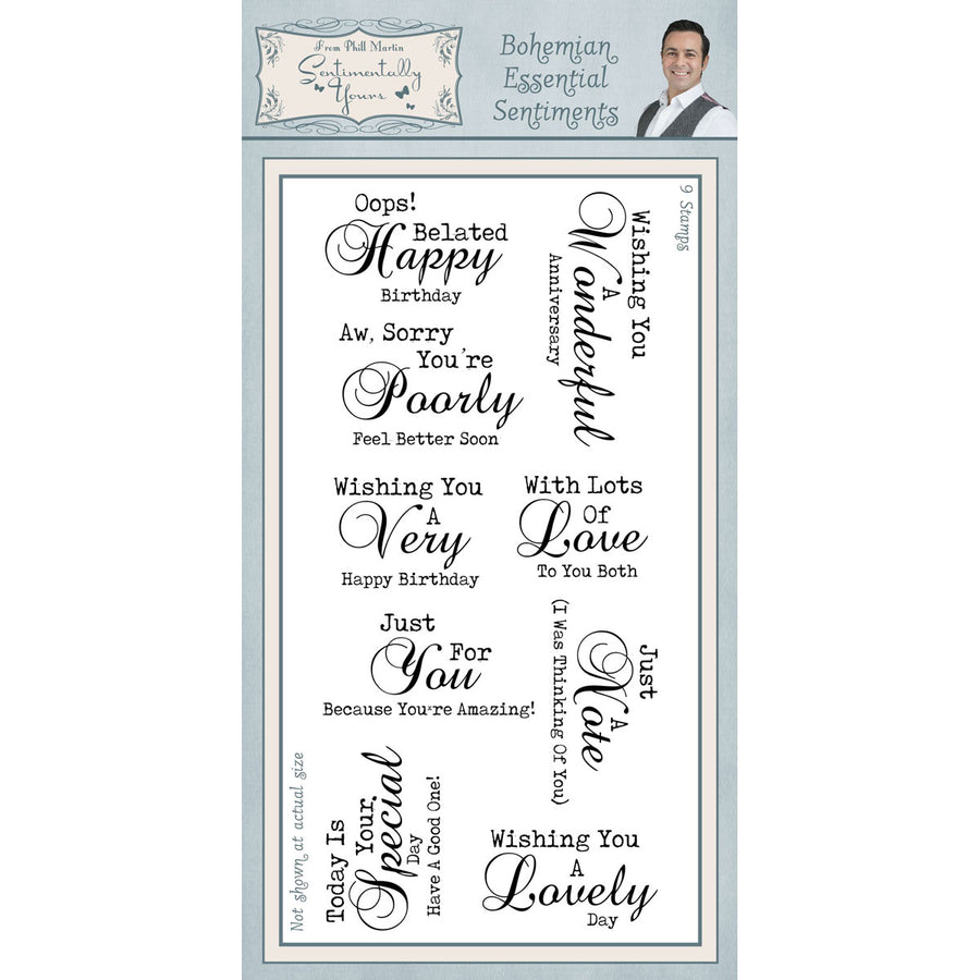 Phill Martin Stamps - Bohemian Essential Sentiments DL - SYC021