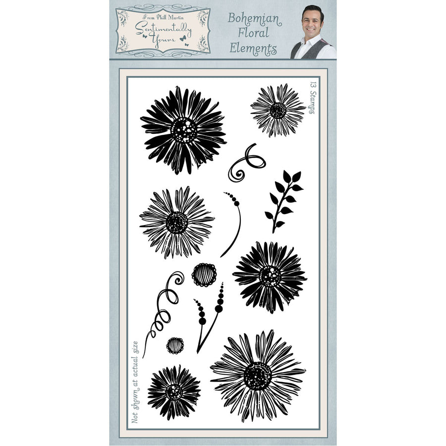 Phill Martin Stamps - Bohemian Floral Elements DL - SYC024