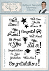 Phill Martin Stamps: Chalkboard Essentials Achievement Collection A5 Clear Stamp Set