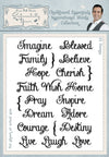 Phill Martin Stamps: Chalkboard Essentials Inspirational Words Collection A5 Clear Stamp