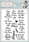 Phill Martin Stamps: Chalkboard Essentials New Home Collection A5 Clear Stamp Set