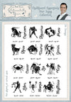 Phill Martin Stamps: Chalkboard Essentials Star Sign Collection A5 Clear Stamp Set