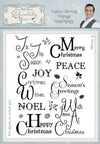 Phill Martin: Sentimentally Yours Festive Berries  Vintage Sentiments A5 Clear Stamp Set