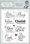 Phill Martin Stamps - Inkspirational Sentiments A5 Clear Stamp Set