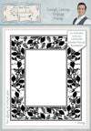 Phill Martin - Lavish Leaves Vintage Frame Pre Cut Stamp