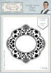Phill Martin - Lavish Leaves Ornate Frame Pre Cut Stamp