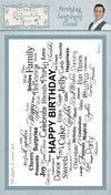 Phill Martin - Birthday Sentiment Cloud Rubber Stamp