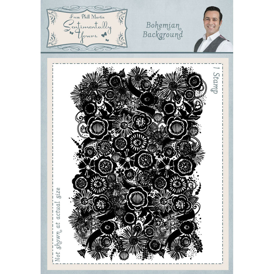 Phill Martin Stamps - Bohemian Background A6 - SYR042