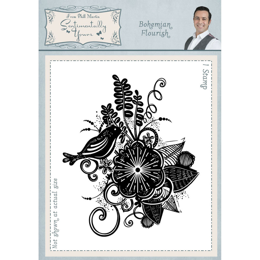 Phill Martin Stamps - Bohemian Flourish A6 - SYR045