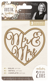Sara Davies Signature Collection - Rustic Wedding - Metal Die - Newlyweds