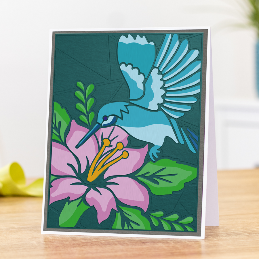 Gemini 3D Embossing Folder & Stencil - Humming Bird