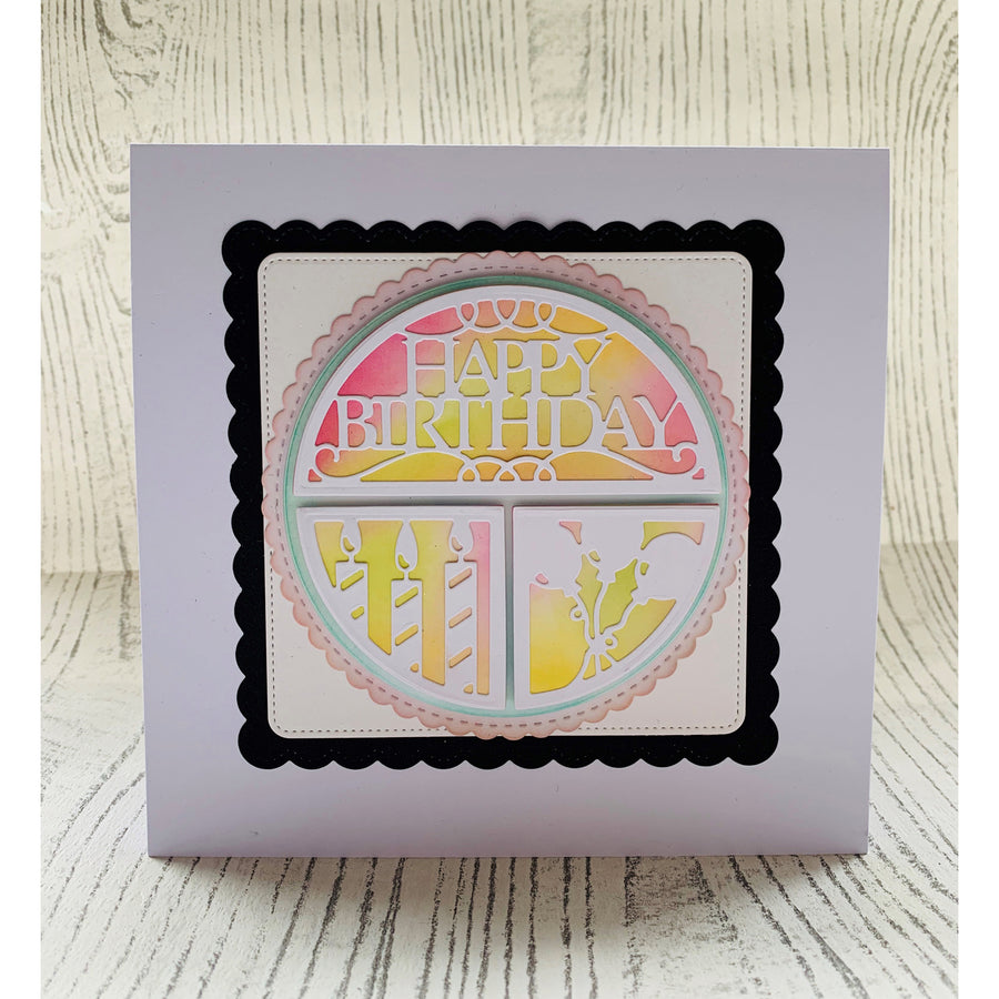 Lisa Horton - Sliced Circles Happy Birthday Craft Die - CEDLH1092